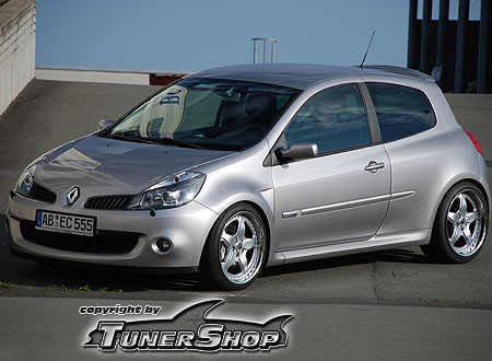 renault clio rs racelite 3 tlg flachbett 18 zoll. Black Bedroom Furniture Sets. Home Design Ideas