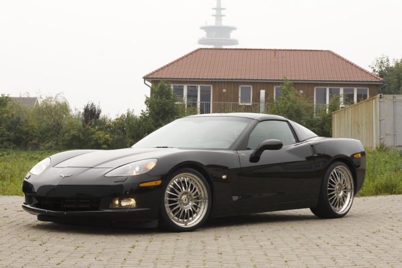 corvette c6 mit z06 umbau 345 25r20 auf der ha. Black Bedroom Furniture Sets. Home Design Ideas