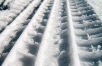 Winter Reifen Spur im Schnee