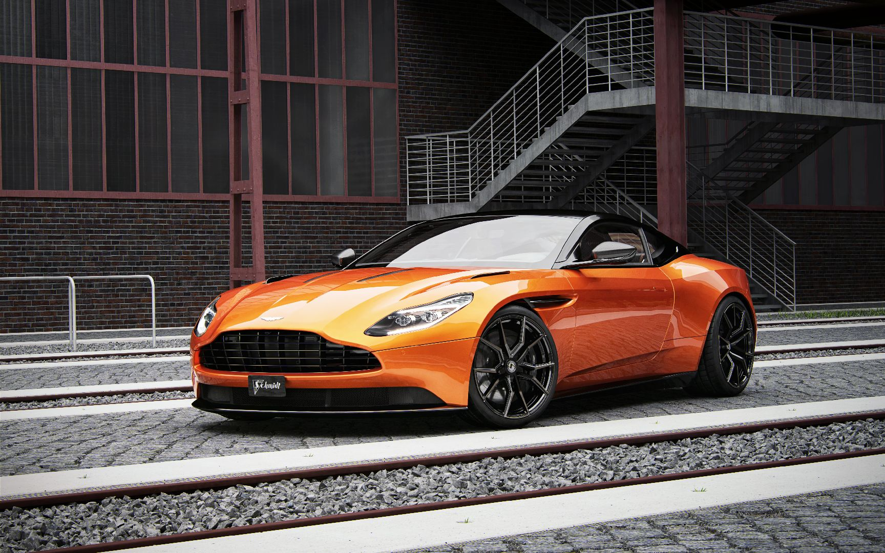 Am Db Schmidt Winterfelgen Front on Aston Martin V8 Vantage